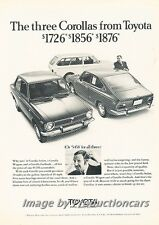 1970 1971 Toyota Corolla Original Advertisement Print Art Car Ad H70