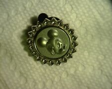 """DISNEY 2009 SILVER MICKEY SURROUNDED WITH """"GEMSTONES"""" PIN"""