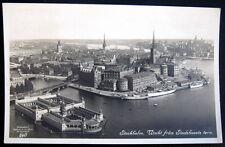SWEDEN~ 1920's STOCKHOLM ~ Utsikt fron Stadshusets forn ~ Real Photo PC  RPPC