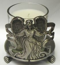 3½ Inch Round Candle Holder - Angel (Item # 1369)