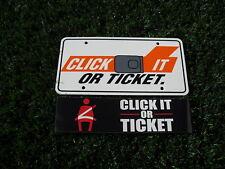 Police Click It or Ticket License Plate Set Interceptor P71 Dodge Chevy HEMI