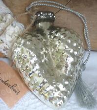Herz, Bauernsilber, Glas Silber,Silberglas, Strass,Shabby,Antik- Finish,Brocante