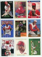 CINCINNATI REDS HOF/STAR MLB Baseball Card Lot - 32 Cards  BARRY LARKIN, ROSE