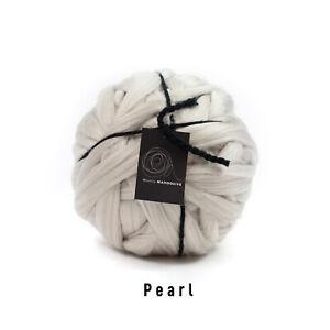 1kg Pearl Mammoth®   Giant Chunky Blanket Yarn   Extreme Arm Knitting Big Yarn