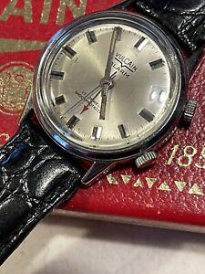 Vulcain Cricket Vintage Men's Alarm Watch Works Well Stainless Steel NR