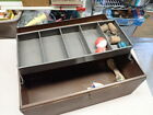 """Vintage Simonsen Steel Compact Tackle Box 1 Tray w/ Dividers 15""""X 7"""" Tall X 6"""""""