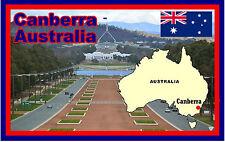 CANBERRA, AUSTRALIA - SOUVENIR NOVELTY FRIDGE MAGNET - SIGHTS / FLAGS - GIFTS