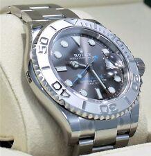 ROLEX Yacht Master 116622 40mm Dark Rhodium Dial Oyster SS Platinum Watch *NEW*