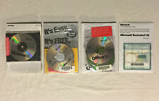 Lot of Vintage Microsoft Windows 95, 98, Office 97, Bookshelf 98, Sealed w/ COA