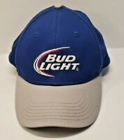 Bud Light Beer Hat Cap Blue Adult Used Snapback Free Shipping