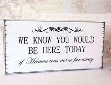 Signo de Boda Recuerdo que sabemos que podría estar aquí hoy signo de boda vintage