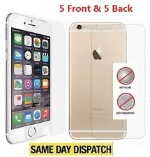 Anti-Glare Matte 5 Front & 5 Back Screen Protectors Film for iPhone 8 Plus 5.5""