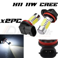 2X H11 11W CREE XENON WHITE LED BULBS SUPER BRIGHT WHITE UK STOCK