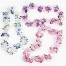 Iridescent and Organza Flower Leis NEW Luau & Party Supply Decoration Dozen (12)