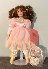 "Paradise Galleries 1999 FLOWER GIRL 10"" Porcelain Doll by Patricia Rose"