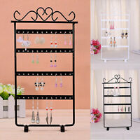 Hot Jewelry Display Stand Rack Earring 48 Hole Holder Storage Organizer Box Show