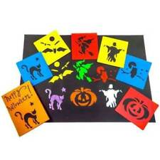 Halloween Stencils Set of 6 Painting Art Spooky Scary Party Crafts