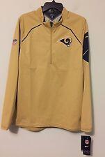Men's Size LARGE Nike Los Angeles Rams Scarlet Alpha Fly Rush Half-Zip Jacket