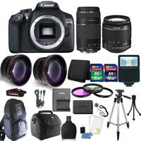 Canon EOS 1300D/T6 18MP DSLR Camera EF-S18-55mm + 75-300mm 4 Lens  Accessory Kit