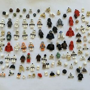 Lego Huge Lot Star Wars Minifigures 25 Complete Lots Helmets Torsos SW Minifigs