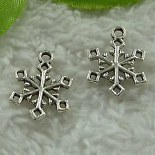 free ship 340 pieces tibet silver snowflake charms 20x15mm #3853