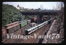Original Slide Path H&M Subway Jersey City Wtc Kodachrome 1979