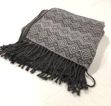 Peruvian Alpaca Throw Decorative and Warm Blanket 66 x 52 Grey tones