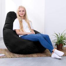 Schwarz 85X115 Sitzsack Sitzkissen Bean Bag Gamer Cover Abdeckung Bodenkissen DE