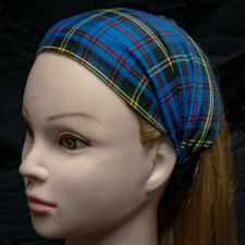 Blue Check Tartan Clan Scottish Headband Hair Ladies Fashion feeanddave
