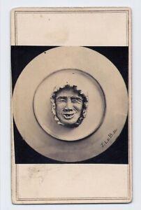 J. P. Ball (African-American) : Stoneware Face 1864 Ohio CDV Folk Art Photo RARE