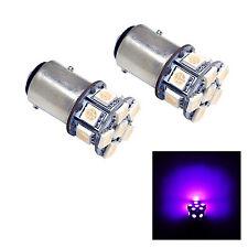2x Purple 1157 13-5050 SMD LED 7528 2057 2357 BRAKE LIGHTS WEDGE P21W