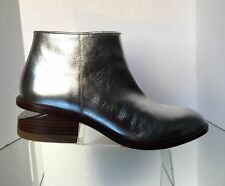 NEW ALEXANDER WANG Kori Silver Metallic Leather Booties w/Rhodium Heel (Size 37)