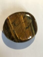 BRAND NEW, IN POUCH, GOLD TIGER EYE PALM STONE LUCK, FORTUNE, HEALING TE18