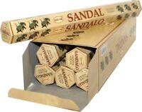 Hem Sandal Incense 120 Sticks - Bulk Pack of 6 x 20 Stick Full Box