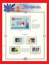 ZAYIX - 1987 Micronesia MNH stamps on album page - Events / Christmas