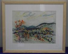 Willy Hinck, Pastell, signiert, datiert, 1972