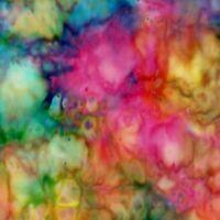 Fabric Batik Rainbow Splatter Gases Design Hoffman Cotton 1/4 Yard H285