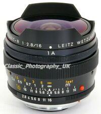 LEICA Fisheye-Elmarit-R 2.8/16mm Lens by LEITZ Wetzlar (Japan) 3-CAM Leica-R