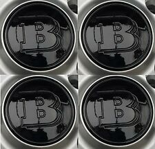 Smart Brabus Black Wheel Centre Cap badge Fortwo Roadster Forfour trim Genuine
