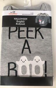 Halloween Graphic Long Sleeve Bodysuit Baby 3-6 Months Toddler Peek BOO Costume