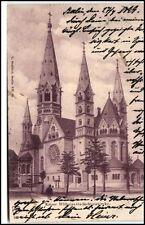 BERLIN 1899 Dt. Reichspost AK n/ Flensburg Kaiser Wilhelm Gedächniskirche Kirche
