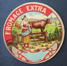 Etiquette fromage FROMAGE EXTRA  french cheese label 26