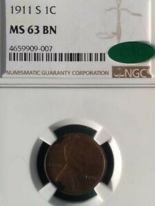 1911 S NGC MS63BN LINCOLN WHEAT CENT SEMI KEY DATE CAC VERIFIED UPGRADE?