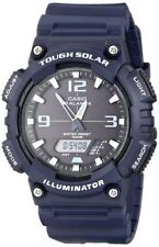 Casio Solar Analog/Digital Watch, Blue Resin, 100 Meter, 5 Alarms, AQS810W-2A2V