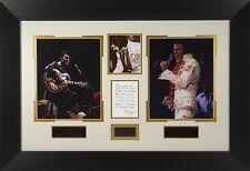 Elvis Presley Stage Worn Concert Scarf Swatch Framed Display