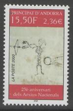 Andorra SGF577 2000 25th aniversario de archivos nacionales estampillada sin montar o nunca montada