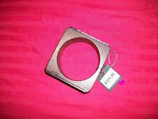 Vince Camuto Wood & Silvertone Bangle Bracelet Silvertone Side Plates RV $68