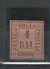 FRANCOBOLLI 1859 ROMAGNE 4 BAJ FULVO MLH D/7114
