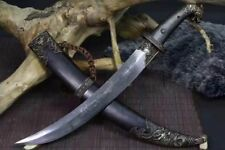 Handmade Mongolian Sharp Folded 1060 Carbon Steel Sword Cavalry Sabre Full Tang