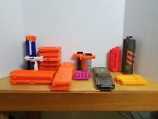 Huge Lot of Nerf Magazines / Clips Accessories Parts Barrels Grips. Free Ship!